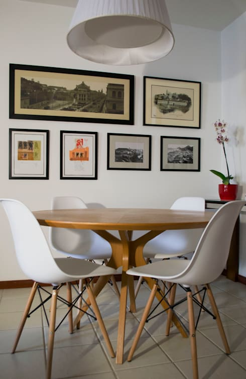 Mesa de Jantar: Sala de jantar  por CORES - Arquitetura e Interiores