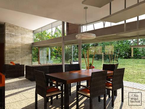 Punta Caracol : Comedores de estilo moderno por A.flo Arquitectos
