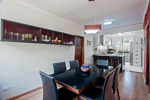 Apartamento 13: Salas de jantar tropicais por Patrícia Azoni Arquitetura + Arte & Design