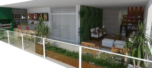 Apartamento em São Paulo: Varanda, alpendre e terraço  por Arquidecor Projetos