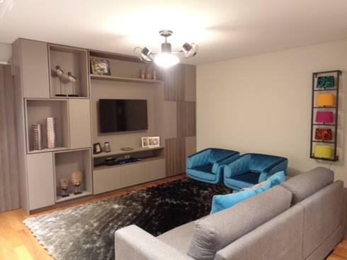 AMBIENTES BY MC3 & LIANE MARTINS: Salas de estar modernas por MC3 Arquitetura . Paisagismo . Interiores