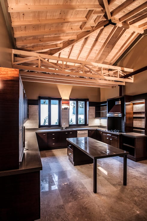 Pimodek Mimari Tasarım - Uygulama – KUMBURGAZ'DA VİLLA: kırsal tarz tarz Mutfak
