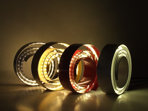 Amonita / lamp: Escritório  por HR Design Studio