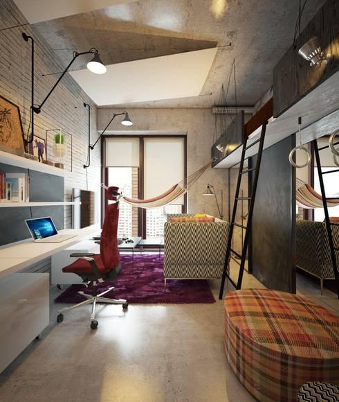 Детская в стиле лофт: Детские комнаты в . Автор – Интерьеры от Марии Абрамовой