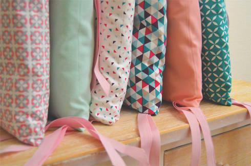Tour de lit 6 coussins d houssables roses et bleus par ma - Coussin tour de lit ...
