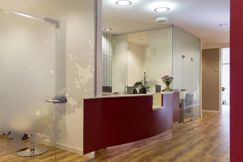 Empfangsbereich:  Praxen von Büro Köthe