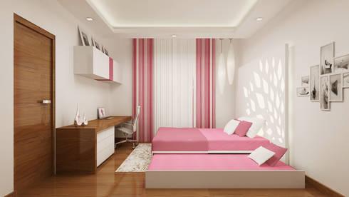 Daughter's Bedroom - View 02: modern Bedroom by De Panache  - Interior Architects