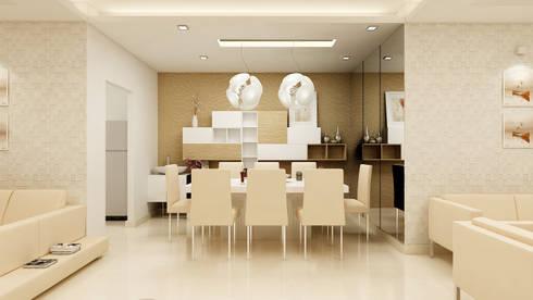 PRESTIGE GARDEN BAY, YELAHANKA, BANGALORE. (www.depanache.in): modern Dining room by De Panache  - Interior Architects