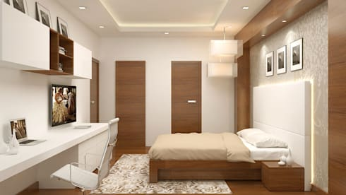 Master Bedroom-: modern Bedroom by De Panache  - Interior Architects