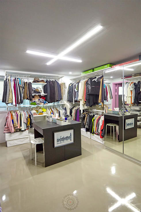 Projekty,  Garderoba zaprojektowane przez 제이앤예림design