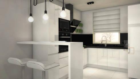Black&White Kitchen: styl , w kategorii Kuchnia zaprojektowany przez Arch/tecture