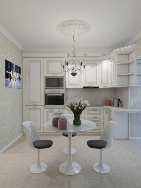 Cocinas de estilo  por Студия дизайна интерьера Маши Марченко