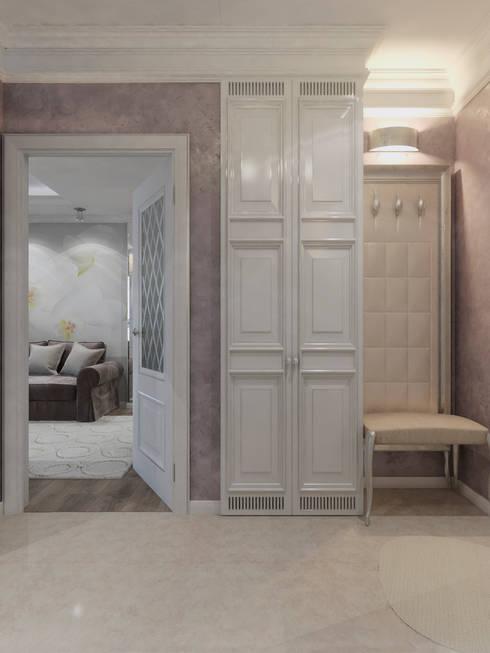 Pasillos y vestíbulos de estilo  por Студия дизайна интерьера Маши Марченко
