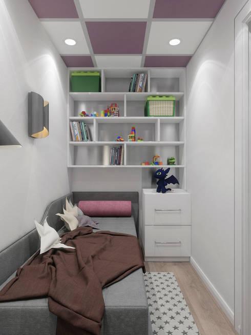 Dormitorios infantiles de estilo  por Студия дизайна интерьера Маши Марченко