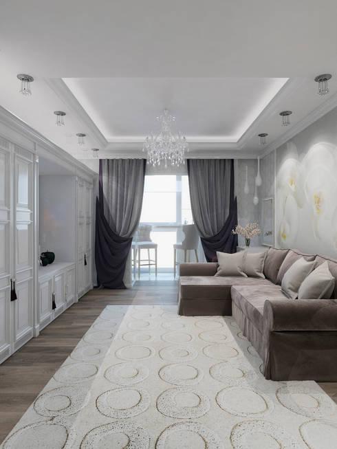 Salas / recibidores de estilo clásico por Студия дизайна интерьера Маши Марченко