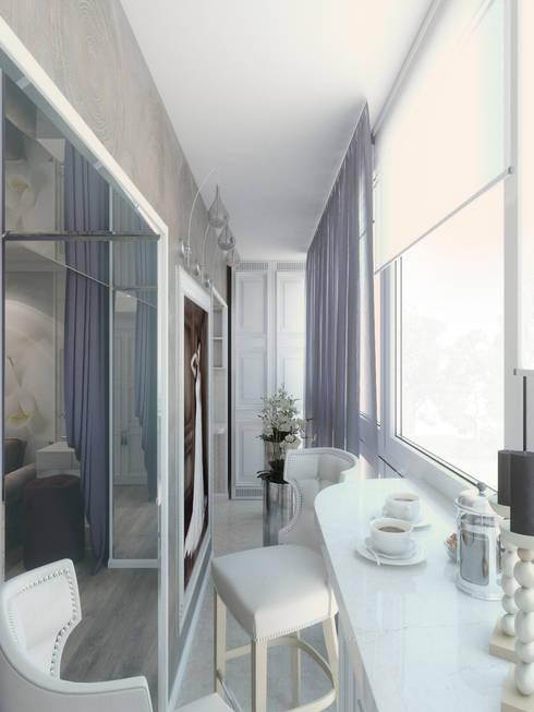 Terrazas de estilo  por Студия дизайна интерьера Маши Марченко