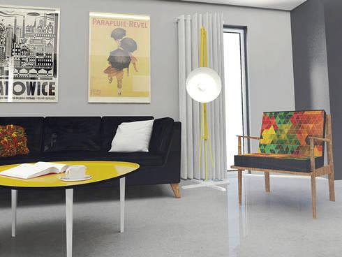 Retro mustard!: styl , w kategorii Salon zaprojektowany przez Arch/tecture