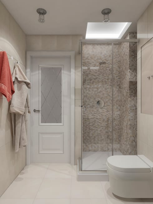 Интерьер квартиры 48 кв.м. в ЖК Новая Династия: Ванные комнаты в . Автор – Студия дизайна интерьера Маши Марченко
