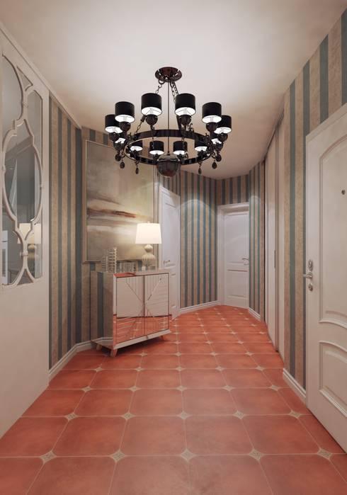 Pasillos y recibidores de estilo  por Студия дизайна интерьера Маши Марченко