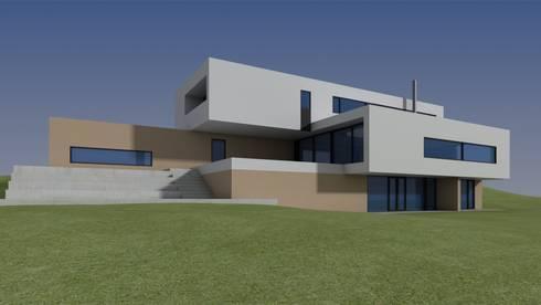 Casa Moderna - Antes:  de estilo  por Atahualpa 3D