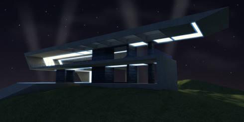 Casa Moderna  2 - Despues:  de estilo  por Atahualpa 3D