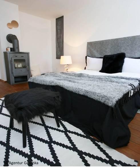 Schlafzimmer - home staging Projekt :  Schlafzimmer von Münchner home staging Agentur GESCHKA