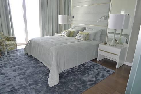 Apartamento Estoril: Quartos modernos por Artica by CSS