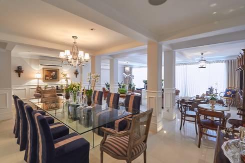 Residência Condomínio West Valley: Salas de jantar clássicas por Piloni Arquitetura