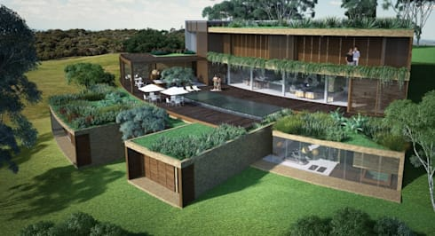 Projeto Residencial Unifamiliar : Casas campestres por Atelier O'Reilly Architecture & Partners