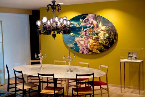 Departamento en Polanco I: Comedores de estilo ecléctico por MAAD arquitectura y diseño