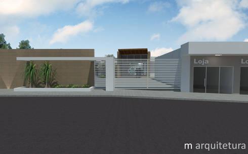 Residência + Lojas: Casas modernas por M Arquitetura