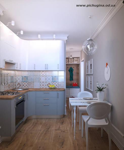 Квартира, 29 м.кв.: Кухни в . Автор – Tatyana Pichugina Design