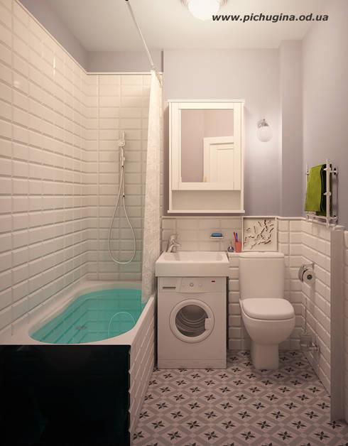 Квартира, 29 м.кв.: Ванные комнаты в . Автор – Tatyana Pichugina Design