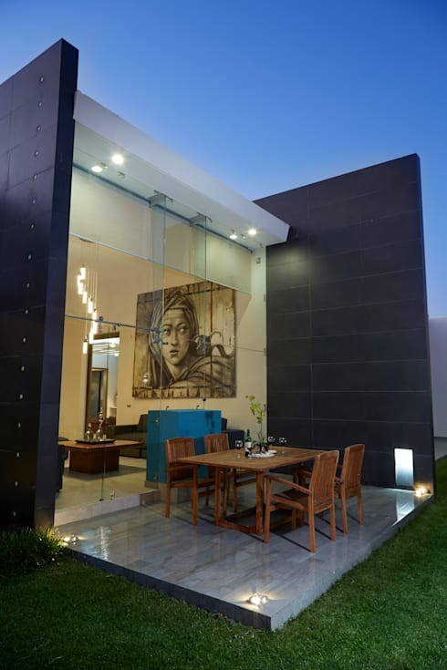 deck: Casas de estilo  por arketipo-taller de arquitectura