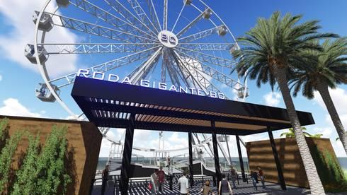 Roda Gigante BC - Balneário Camboriú / SC: Espaços comerciais  por Ponta Cabeça - Arquitetura Criativa