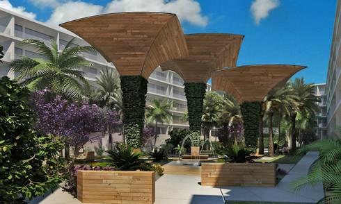 Edificio de Departamentos El Polo:  de estilo  por EcoEntorno Paisajismo Urbano