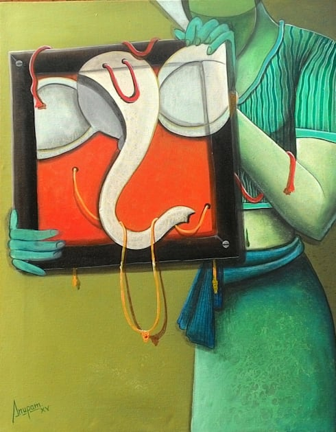 In the frame:  Artwork by Indian Art Ideas