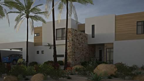 Casa AnEr: Casas de estilo moderno por Arqozs