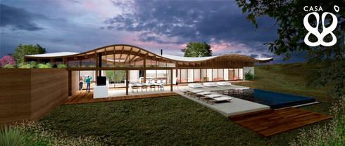 Casa 88º recebe 1º lugar no prêmio Saint-Gobain de Sustentabilidade.: Casas minimalistas por Atelier O'Reilly Architecture & Partners