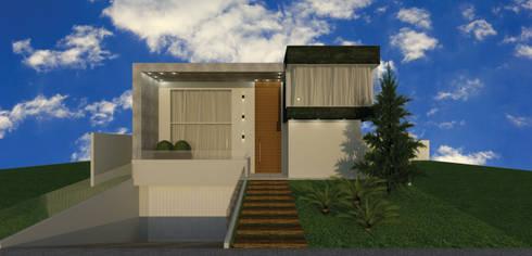 Residência MR: Casas modernas por Aline Falci Arquitetura  e Interiores