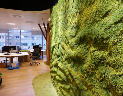 Muros frescos de muros frescos homify for Oficina qualitas auto madrid