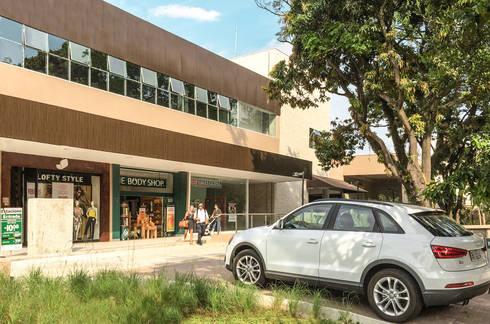 Meio Arquitetura - Open Mall Verbo Divino - Acesso Veículos - SP: Espaços comerciais  por Meio Arquitetura