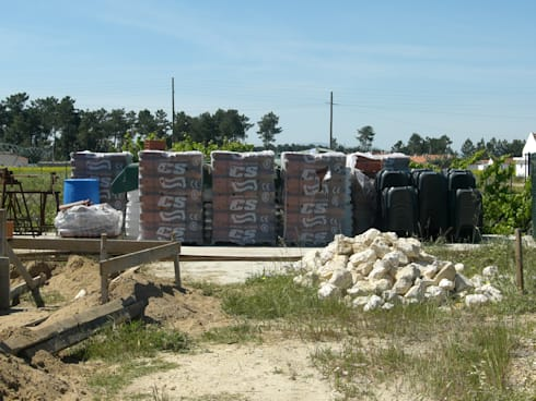 Organização de Estaleiro.: Casas campestres por knowhowtobuild
