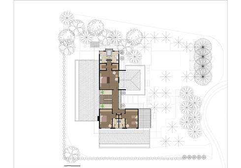 CASA ILHA DE NISYROS: Quartos  por Eduardo Novaes Arquitetura e Urbanismo Ltda.