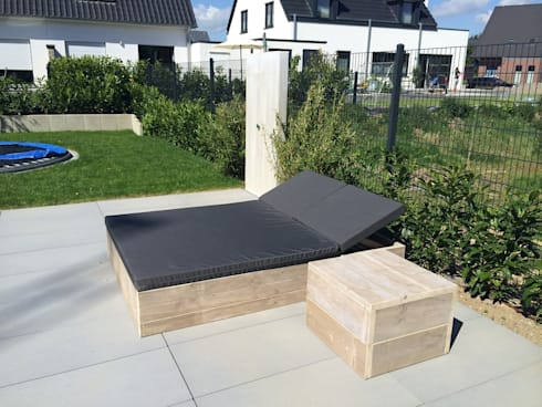 bauholz gartenliege by exklusiv dutch design homify. Black Bedroom Furniture Sets. Home Design Ideas