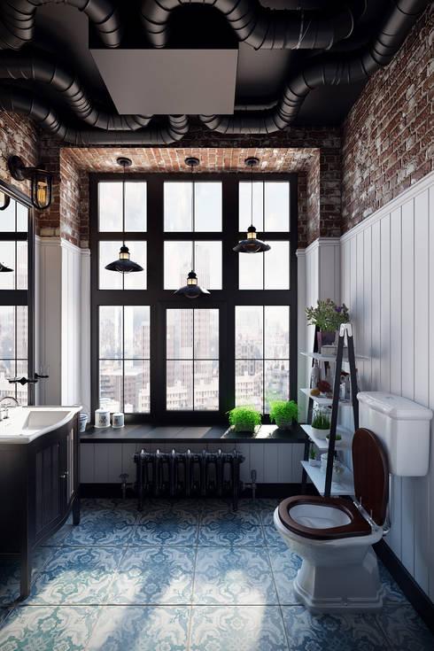 Baños de estilo industrial de Александра Клямурис