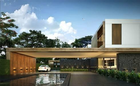 casa lagos:  de estilo  por Estudio Nario