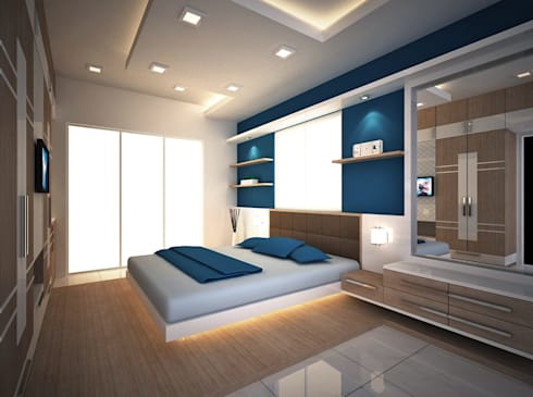 Beautiful Bedroom: modern Bedroom by  Interior Design