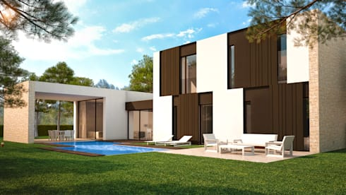 villa beatriz casas de estilo escandinavo de nuam - Ramon Esteve Arquitecto