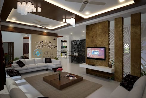 Villa Project: modern Living room by ARY Studios